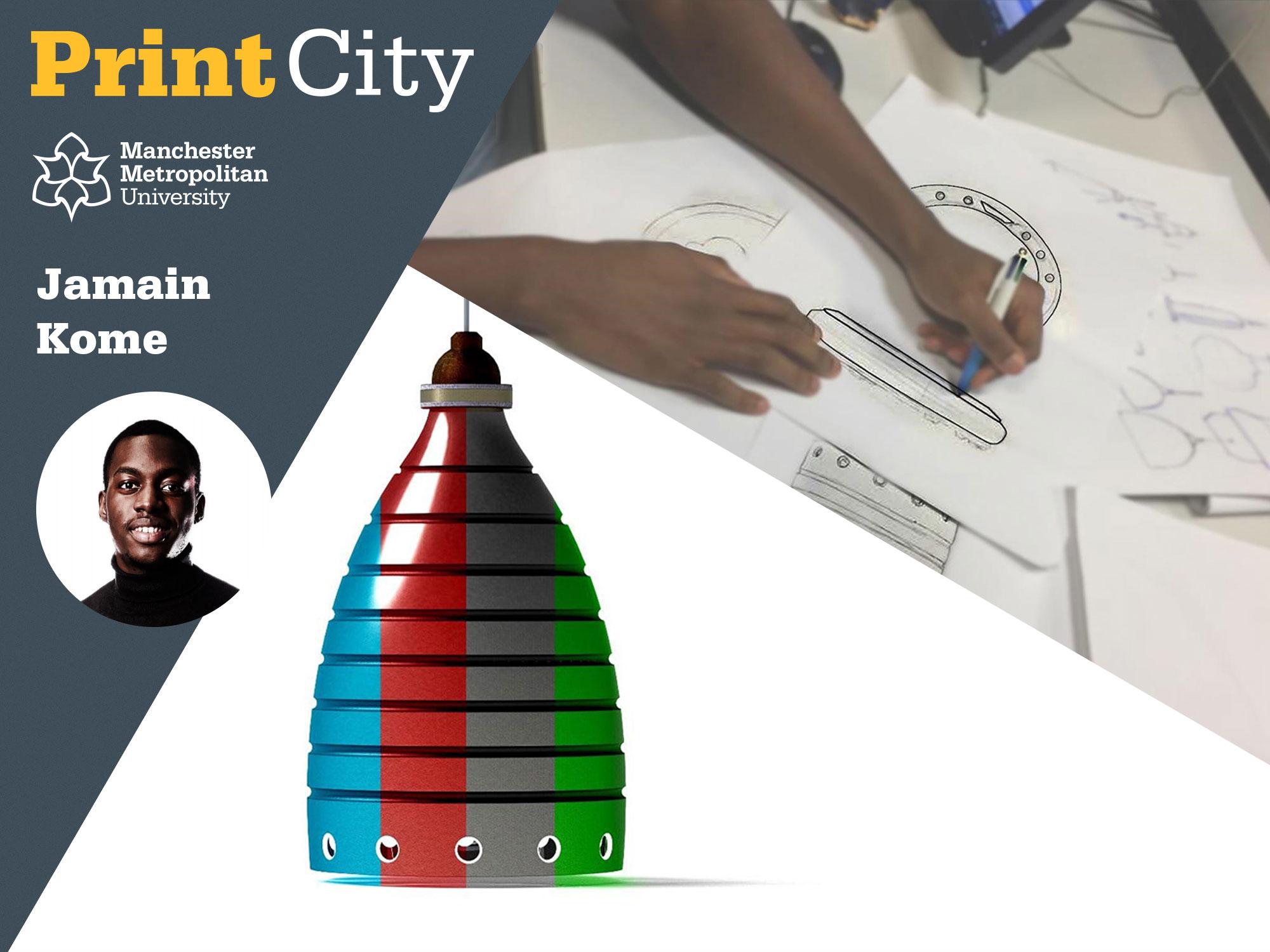 Jamain Kome - Student Profile - PrintCity - Manchester Metropolitan University